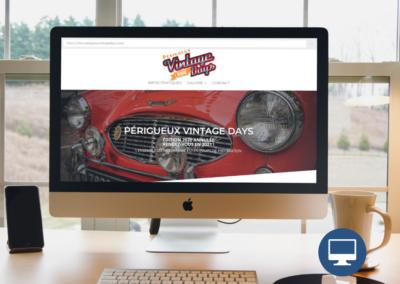 Création site internet Périgueux : Périgueux Vintage Days, événement