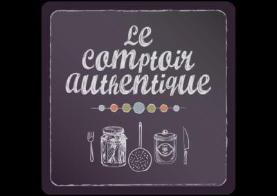 Création logo et signalétique Le Comptoir Authentique