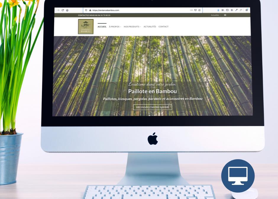 Création site internet Périgueux : Tendance Bambou, créateur de mobilier