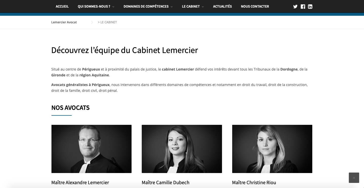 creation-site-internet-cabinet-avocat-lemercier-avocat-perigueux