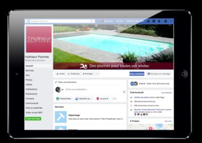 Campagne de publicité Facebook Hydropur Piscines
