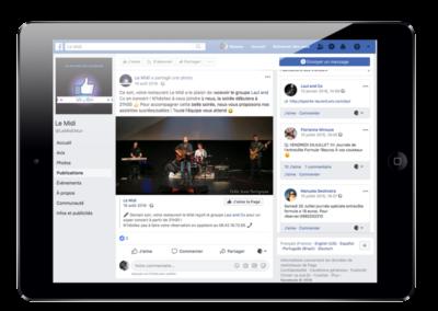 Animation Réseaux sociaux Facebook Le Midi