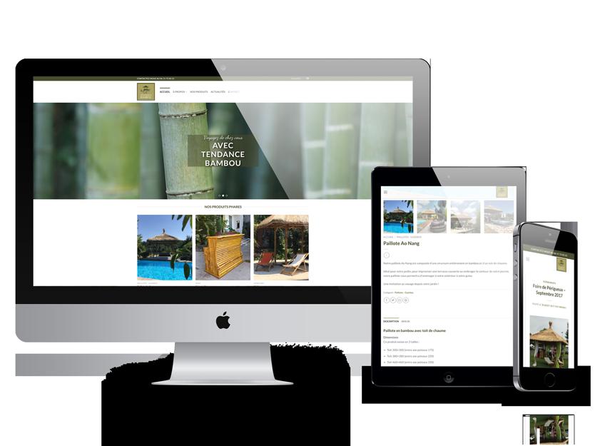 Site Web Tendance Bambou