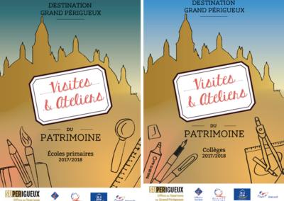 Création Brochures Primaires Collèges 2017-2018 Office du Tourisme Grand Périgueux