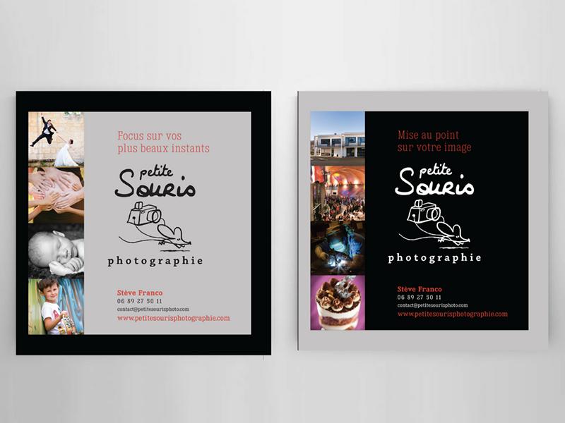 Création Plaquette et Carte de visite Petite Souris Photographie
