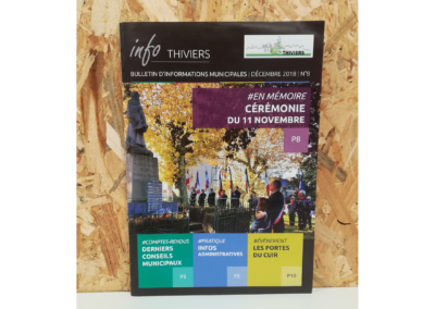 Création Bulletin Municipal Thiviers N°8