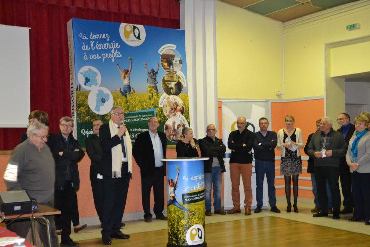 Supports communication Communauté de communes Périgord Limousin Stand présentoire mange-debout Adékoi Graphisme.