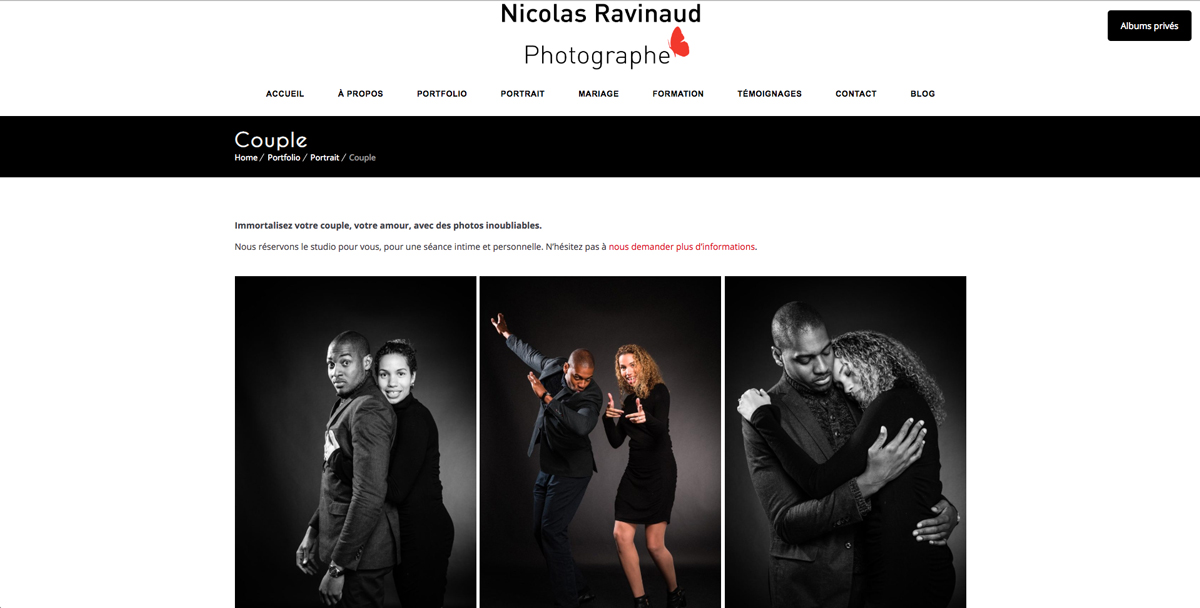 Création site web photographe