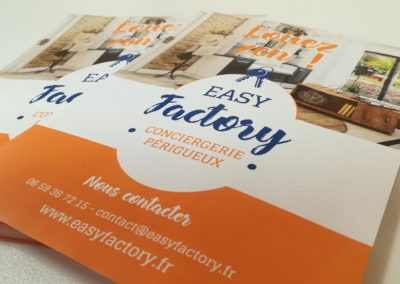 Création Flyer Conciergerie Easy Factory
