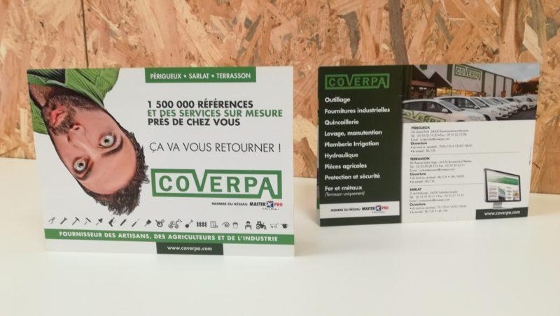 Dépliant campagne publicité Coverpa - Adékoi communication papier Périgueux Dordogne