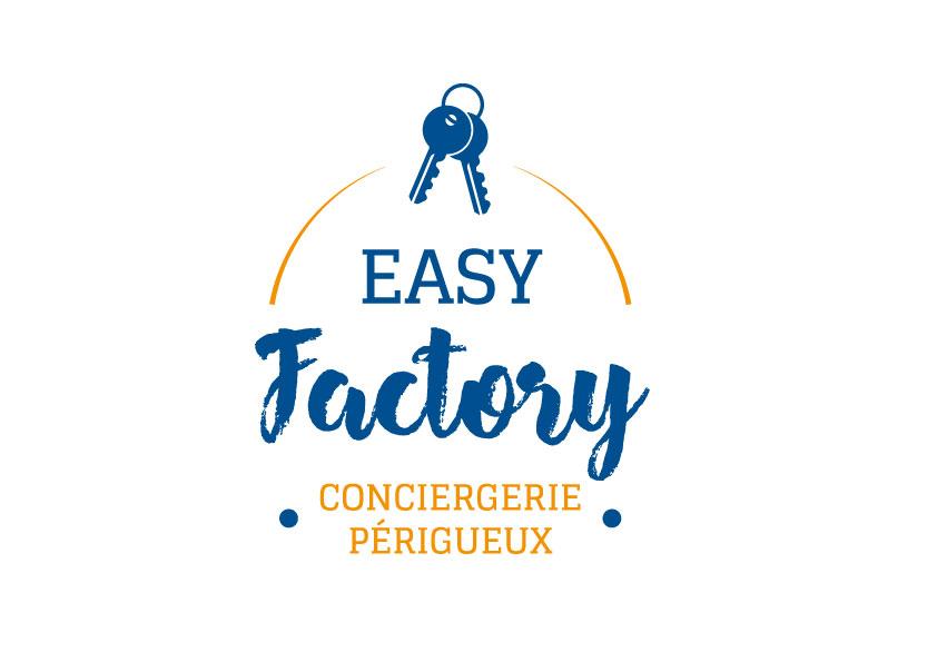 Logo Easy Factory conciergerie Périgueux - Adékoi communication papier Dordogne