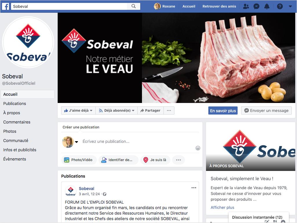 Sobeval viande Animation facebook Adékoi communication