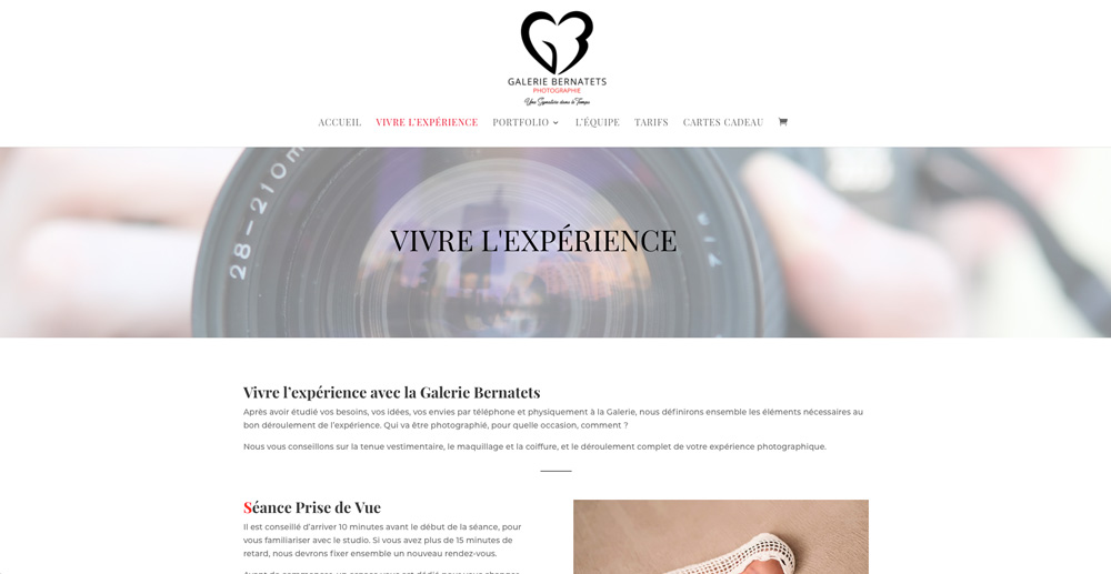 creation-site-internet-photographe-galerie-bernatets-bordeaux-gironde
