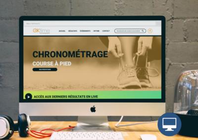 Création site internet Périgueux : OK TIME, chronométrage sportif en Dordogne