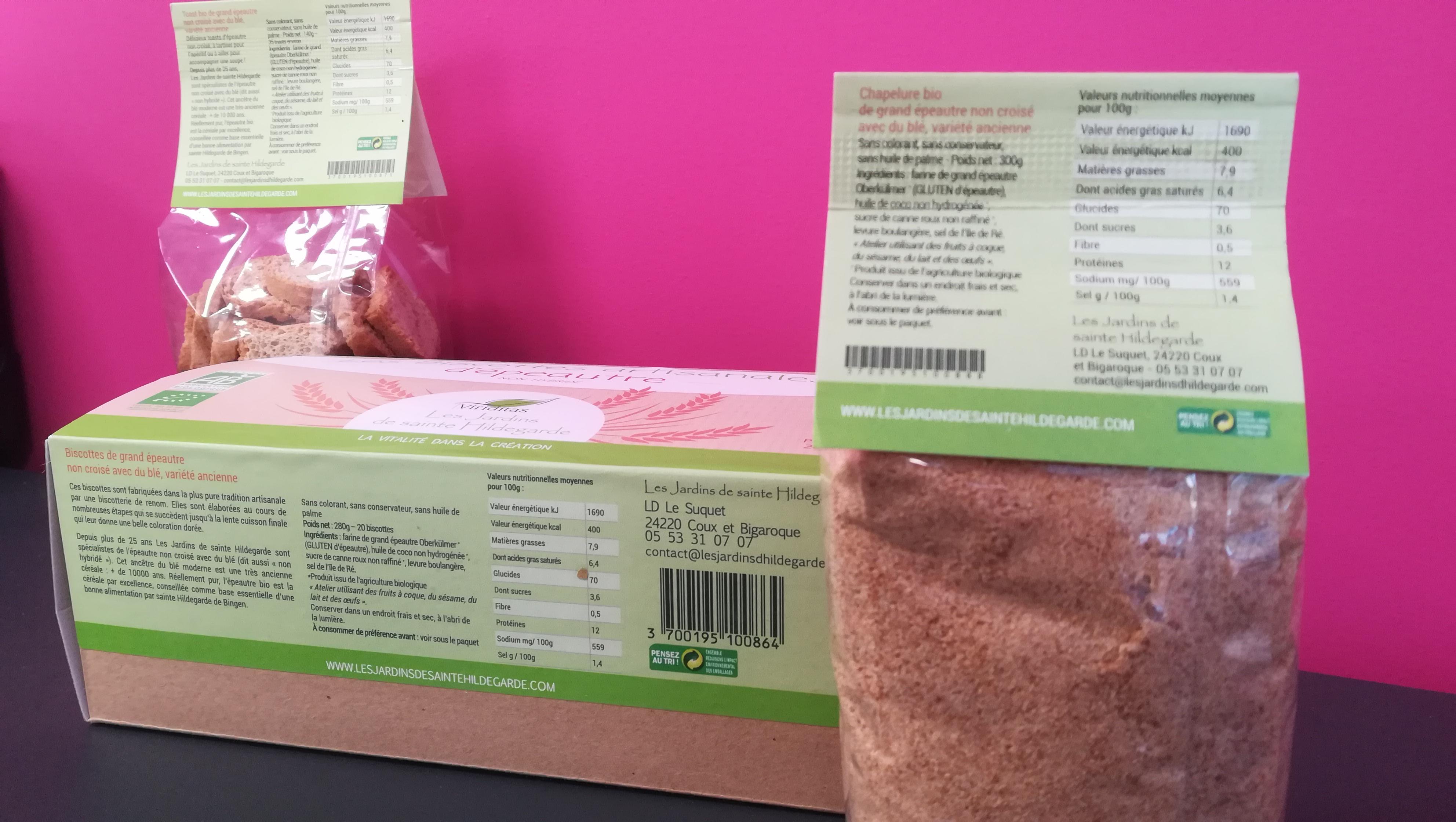 Design de packaging Les jardins de Sainte Hildegarde - Adékoi communication Nouvelle aquitaine