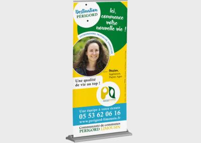 Création Bâches et Roll up pour la Communauté de communes Périgord-Limousin