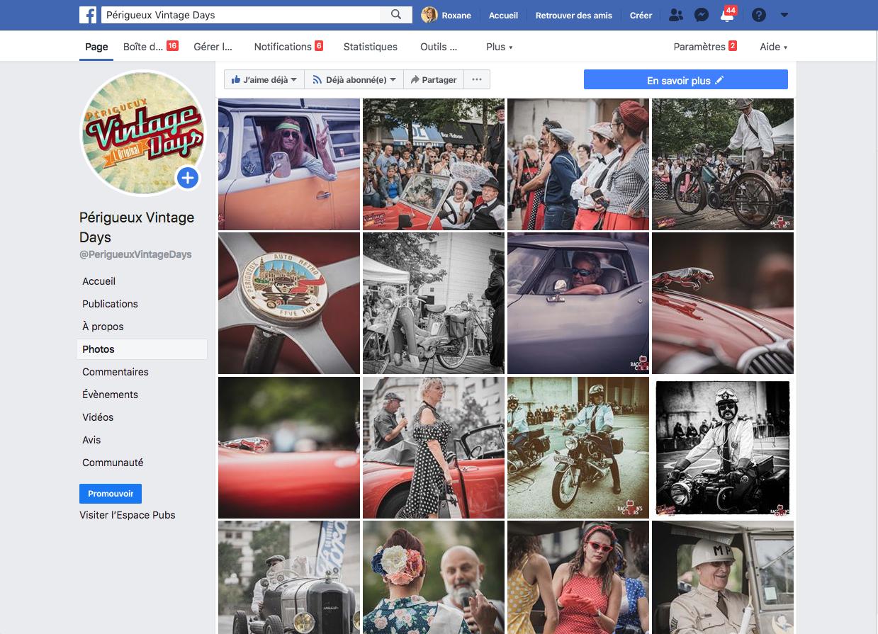 Facebook Périgueux Vintage Days - Agence de communication Adékoi Dordogne