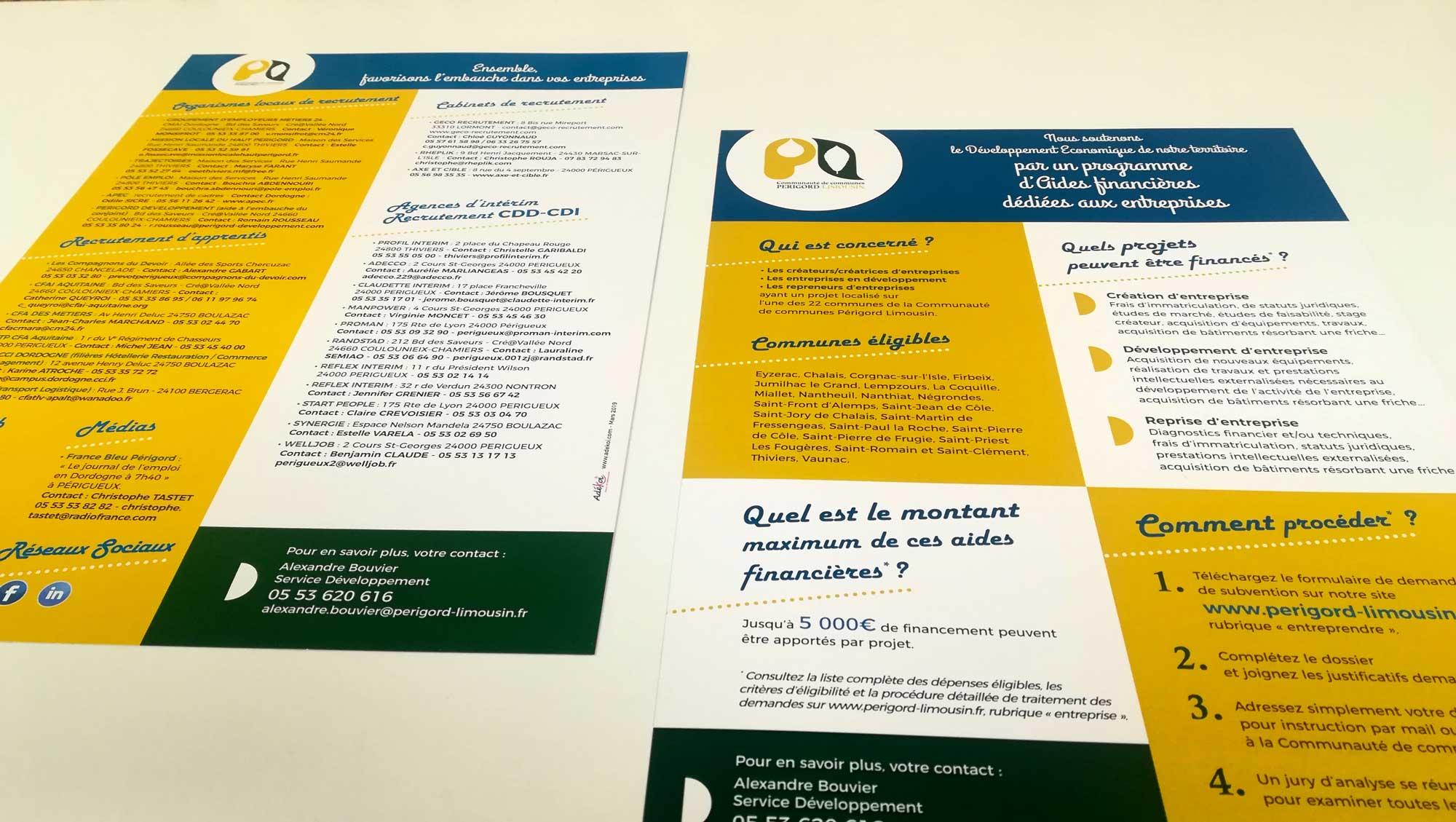 Fiche thématique communauté de communes Périgord Limousin - Adékoi communication Dordogne