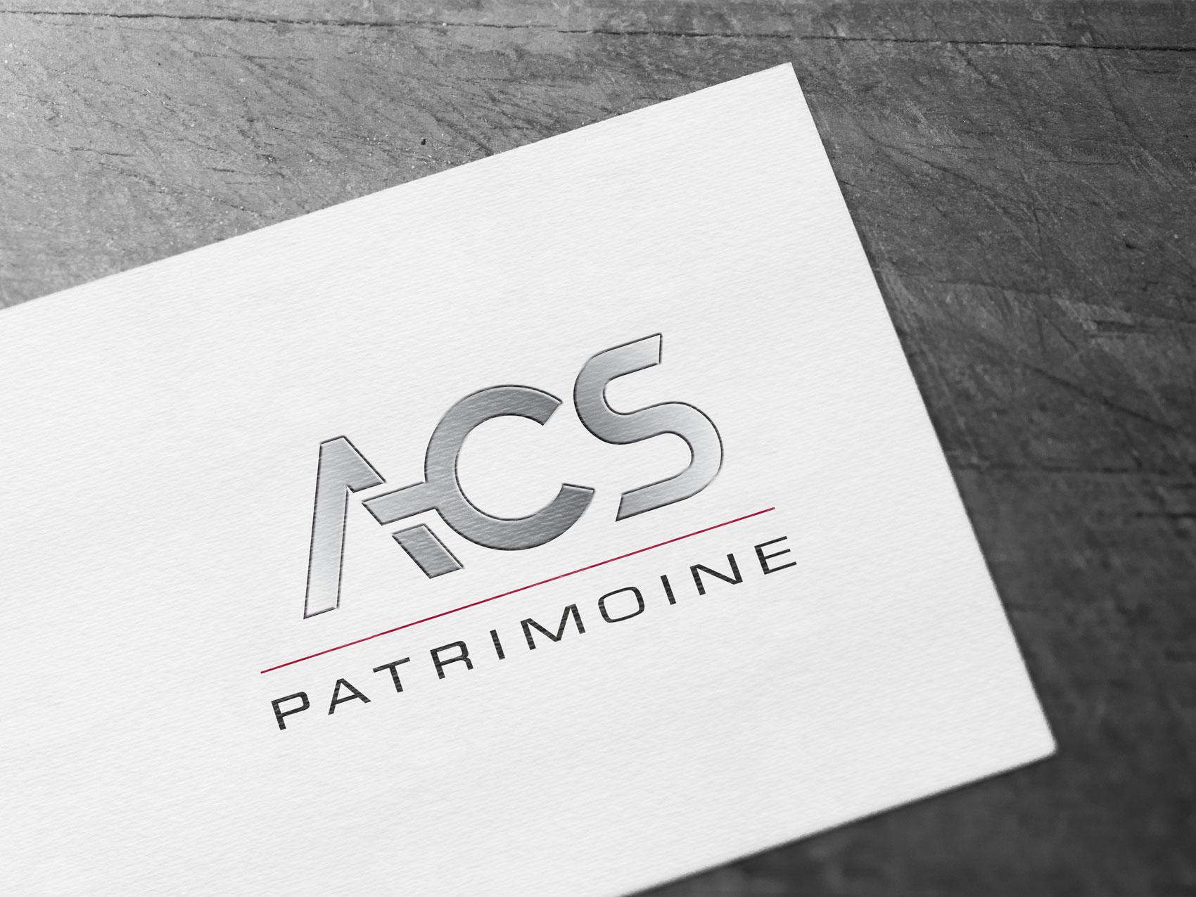 Logo ACS patrimoine - Agence Adekoi communication