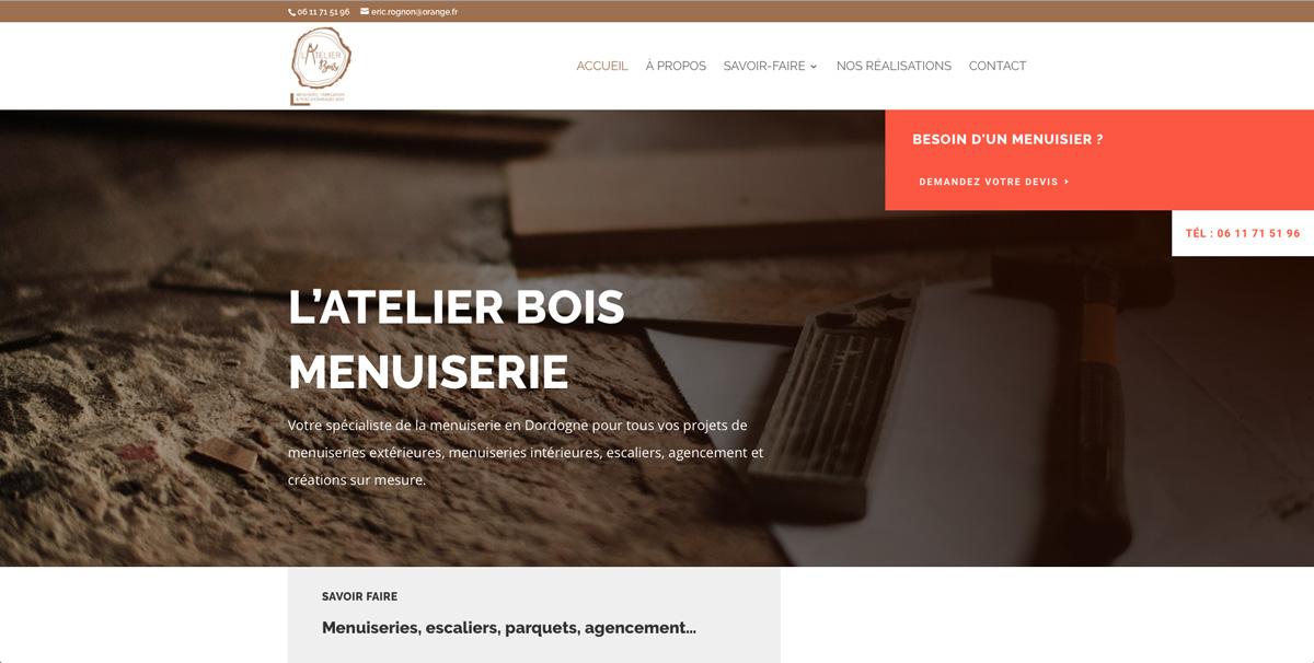 creation-site-internet-menuiserie-fabrication-pose-d-ouvrages-bois-atelier-bois-dordogne