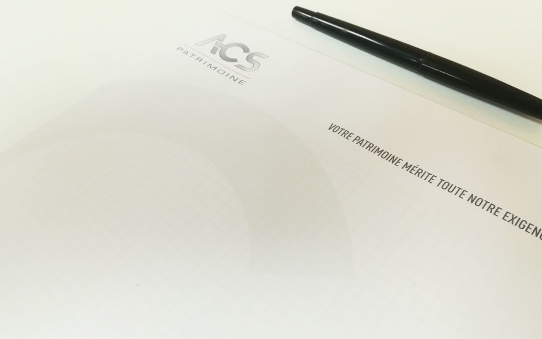Création Bloc notes ACS Patrimoine