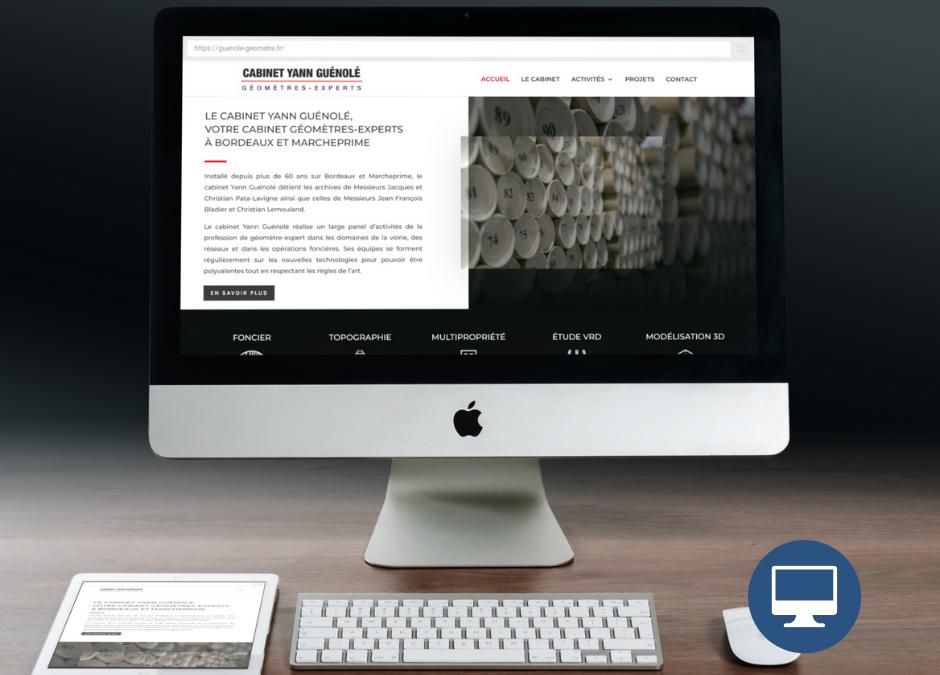 Création site internet Bordeaux : Cabinet Yann Guénolé