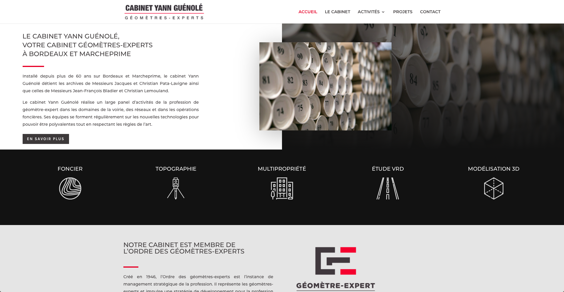 creation-site-internet-geometre-cabinet-yann-guenole-bordeaux-gironde