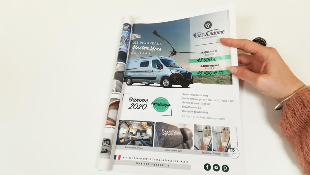 Master van Fourgons aménagés gamme 2020 Font Vendôme - Adékoi communication Périgueux