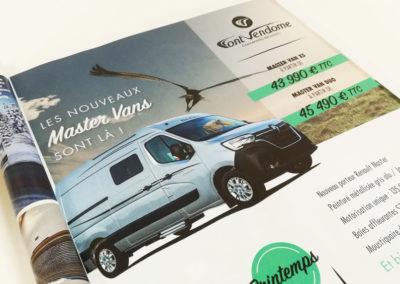Création Annonce presse Font Vendôme 2020 Master Vans