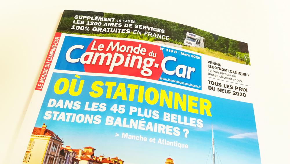 Annonce presse Le monde du camping-car - Font Vendome Randger - Adékoi communication Périgueux
