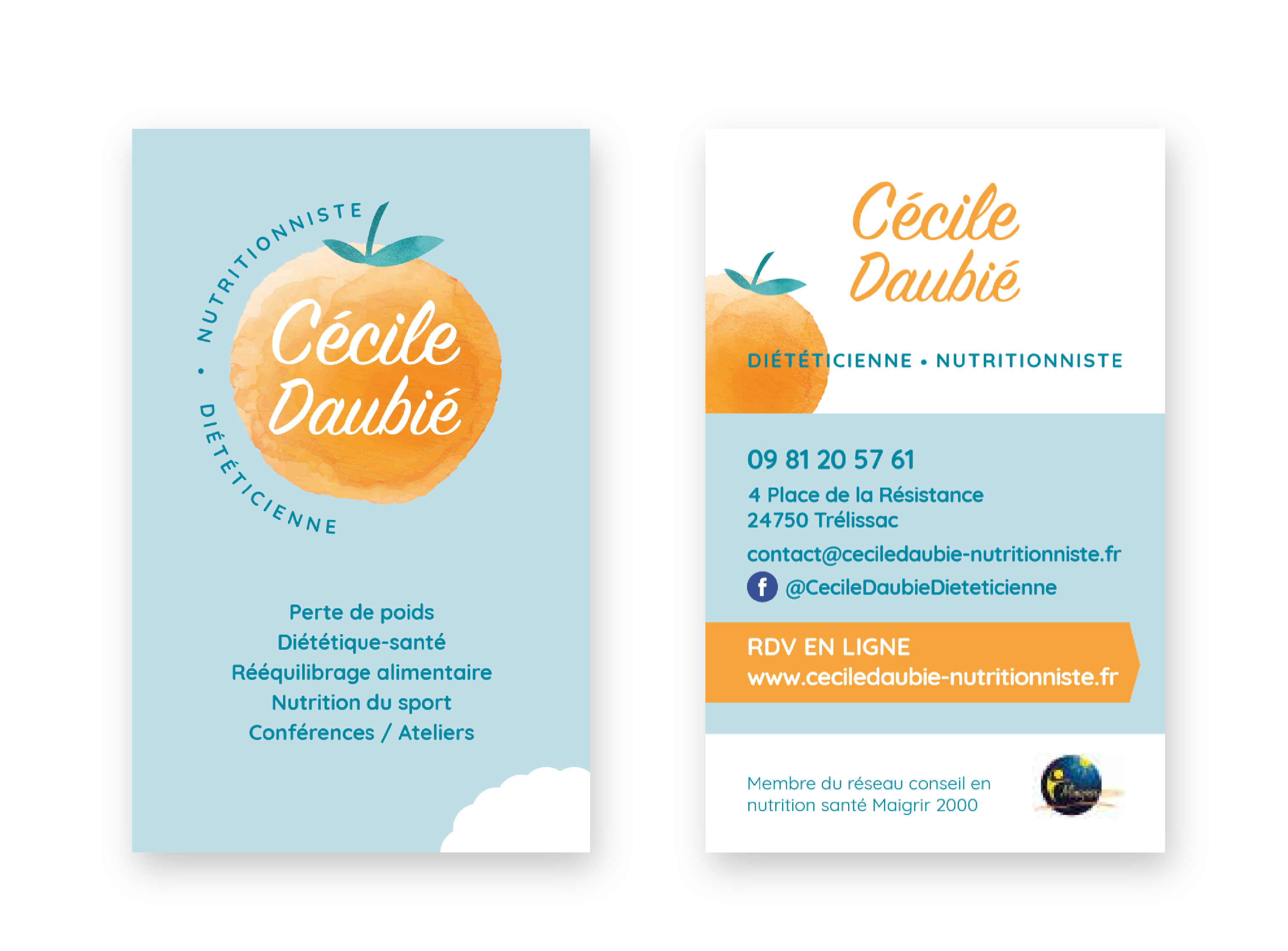 creation-cartes-de-visite-nutrionniste-dieticienne-cecile-daubie-dordogne
