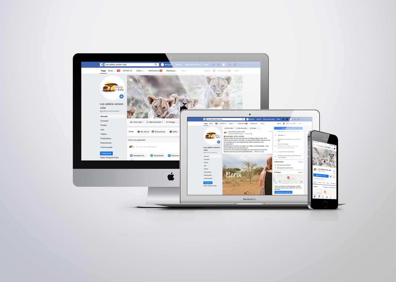 Animation Facebook Les Safaris Version Julie - AdéKoi réseaux sociaux