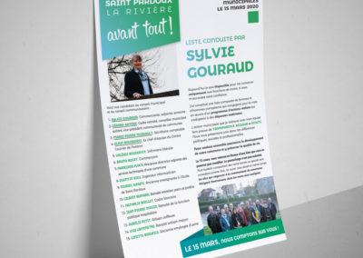 Création Campagne électorale municipale Saint Pardoux la Rivière