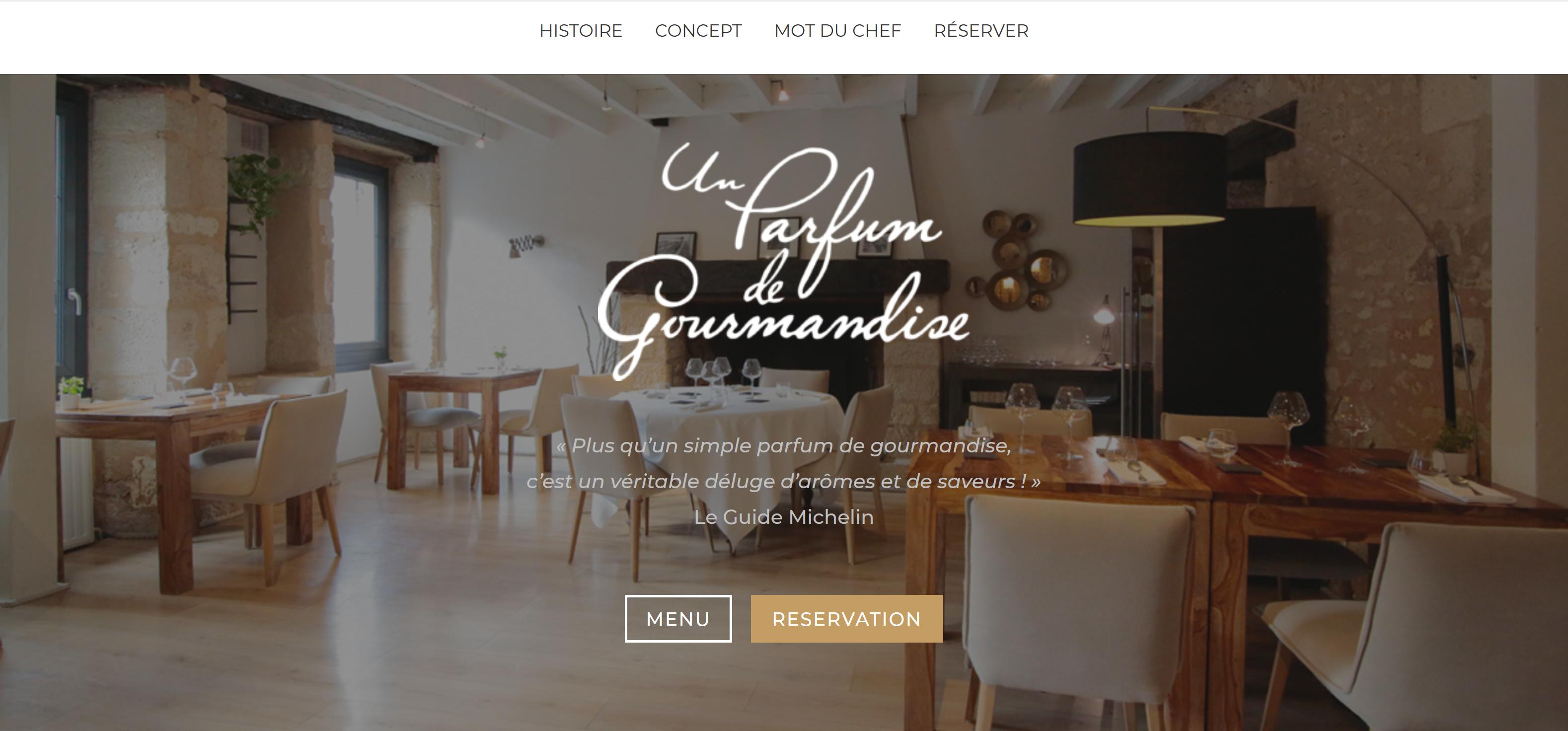 creation-site-internet-restaurateur-un-parfum-de-gourmandise-perigueux