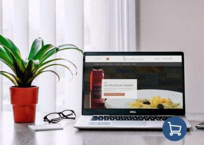 Création site e-commerce Dordogne : Les Délices de Sandra
