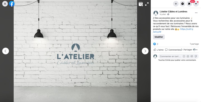 animation-facebook-specialiste-de-l-éclairage-l-atelier-cables-et-lumieres-dordogne