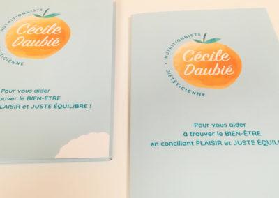 Création Plaquette Cécile Daubié nutritionniste diététicienne