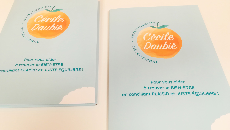 création plaquette Cécile Daubié nutritionniste diététicienne Périgueux - Adékoi communication Dordogne