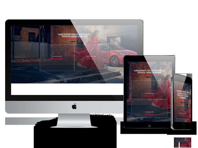 Site vitrine Edenauto Toyota Yaris concessionnaire - Adékoi communication Périgueux