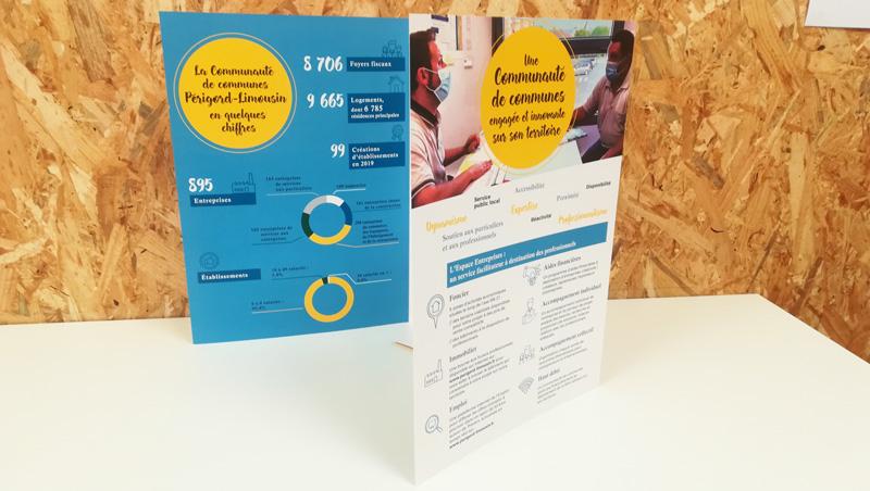 Chemise Développement économique communauté de communes Périgord Limousin - Adékoi communication Dordogne