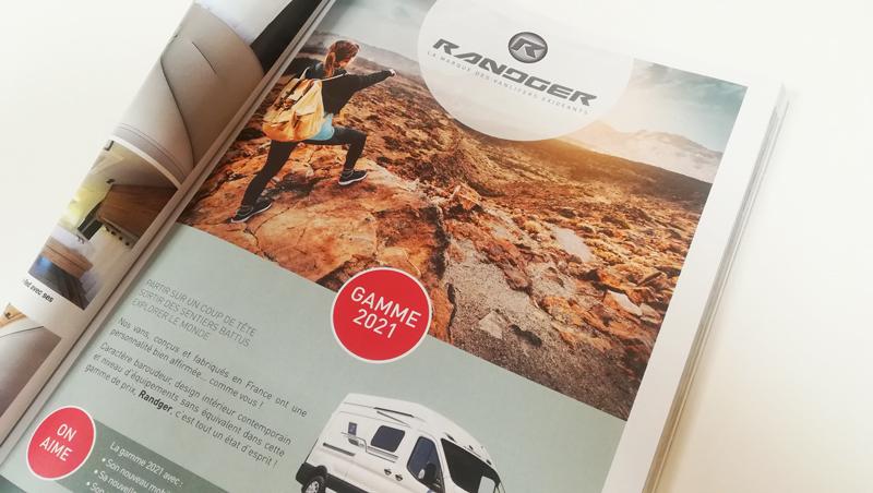 annonces presse Randger gamme 2021 - vans aménagés - Adékoi Périgueux