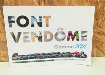 catalogue Font Vendôme 2021 - vans aménagés - Adékoi communication Dordogne