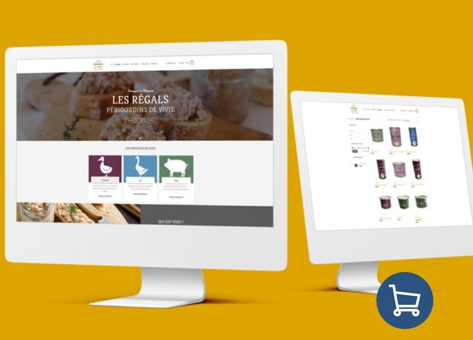 Création site e-commerce Dordogne : Les régals périgordins de Vivie