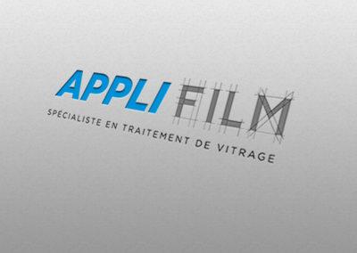 Création logo Applifilm – Traitement de vitrage