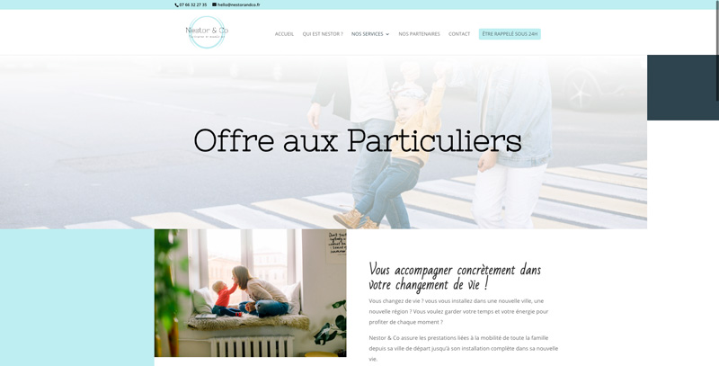 Nestor & co site internet périgueux - Facilitateur de nouvelle vie - Adékoi communication Dordogne
