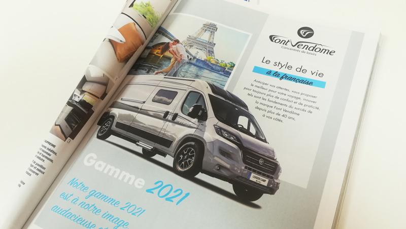 Création Annonce presse Font Vendôme 2021