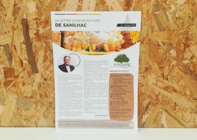 Lettre d'informations Mairie de Sanilhac - Adékoi communication Périgueux