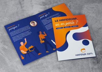Création plaquette Handys Com – Consultante en communication handicap