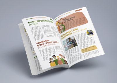 Création Magazine Mairie de Sanilhac n°1 décembre 2020