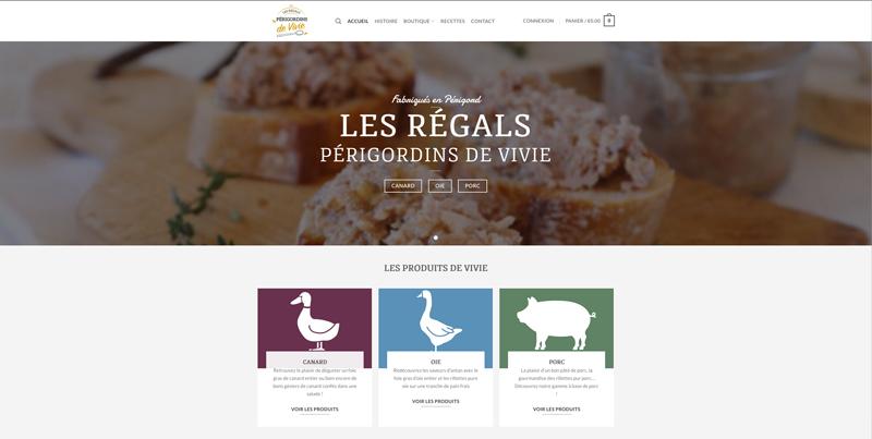 Site internet Périgueux e-commerce boutique en ligne Les régals périgordins de Vivie - Adékoi communication et web